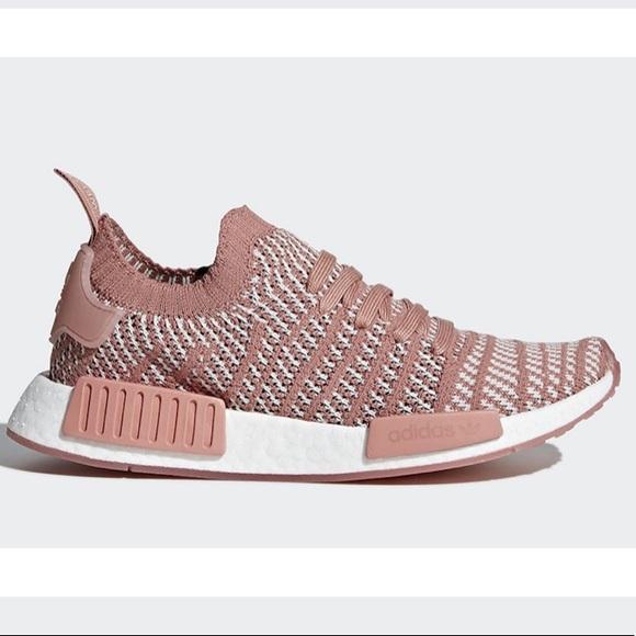 adidas Womens NMD R1 Primeknit STLT, Ash Pink, 8.5